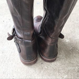 hinge Shoes - Hinge   Dark Brown Riding Boots